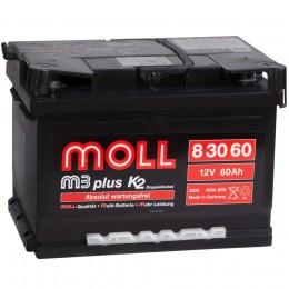 MOLL M3plus 60R (низкий) 550А обратная полярность 60 Ач (242x175x175)