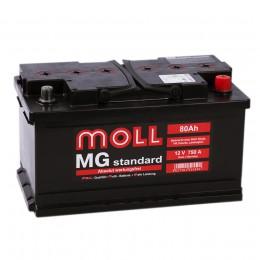 Автомобильный аккумулятор MOLL MG 80RS (низкий) 750А обратная полярность 80 Ач (315x175x175) фото