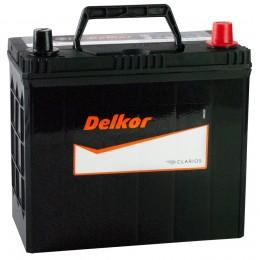 Автомобильный аккумулятор DELKOR 55R (70B24LS) 480А обратная полярность 55 Ач (238x129x227) фото