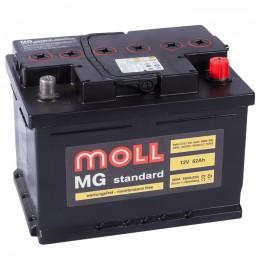 Автомобильный аккумулятор MOLL MG 62SR (низкий) 600А обратная полярность 62 Ач (242x175x175) фото