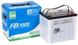 Автомобильный аккумулятор FB7000 80D23L 660А обратная полярность 68 Ач (230x169x225) фото