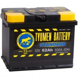 Автомобильный аккумулятор Тюмень Standard 62L 580А прямая полярность 62 Ач (242x175x190) фото