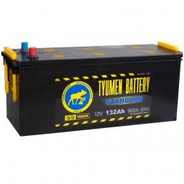 Автомобильный аккумулятор Тюмень Standard 132 рус 960А прямая полярность 132 Ач (514x189x230) фото