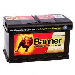 BANNER Running Bull AGM 80R (58 001) 800А обратная полярность 80 Ач (315x175x190)