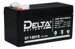 Аккумулятор для мототехники DELTA DT 12012 1.2A 19А обратная полярность 1 Ач (97x44x53) фото