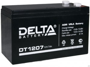 Delta DT 1207 50А обратная полярность 7 Ач (151x65x102)