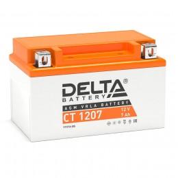 Аккумулятор для мототехники DELTA CT 1207 105А Прямая полярность 7 Ач (152x87x95) фото
