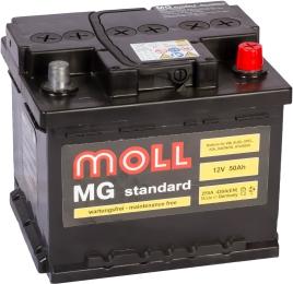 MOLL MG Standard 50R (низкий) 430А обратная полярность 50 Ач (207x175x175)