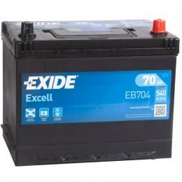 EXIDE Excell 70R EB704 540A 266х172х223