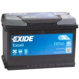 EXIDE Excell EB740 (74R) 680А обратная полярность 74 Ач (276x175x190)