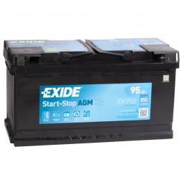 EXIDE Start-Stop AGM EK950 (95R) 850А обратная полярность 95 Ач (353x175x190)