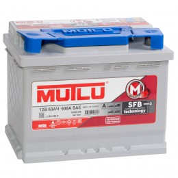 MUTLU Mega Calcium 60R 540А обратная полярность 60 Ач (246x175x190)