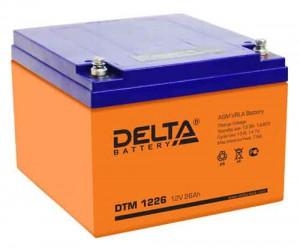 Аккумулятор для ИБП Delta DTM 1226 300А универсальная полярность 26 Ач (166x175x125) фото
