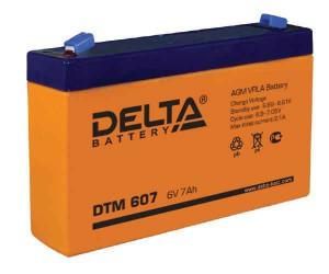 Delta DTM 607 105А универсальная полярность 7 Ач (151x34x94)