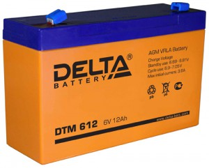 Delta DTM 612 150А универсальная полярность 12 Ач (151x50x94)