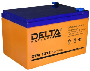 Delta DTM 1212 180А универсальная полярность 12 Ач (151x98x95)
