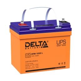 Delta DTM 1233 L 330А универсальная полярность 33 Ач (195x130x155)