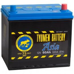 Автомобильный аккумулятор Тюмень Asia 60R 550А обратная полярность 60 Ач (230x173x225) фото