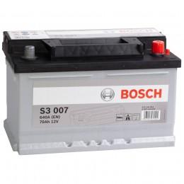 Автомобильный аккумулятор BOSCH S3 007 (70R) 640А обратная полярность 70 Ач (278x175x175) фото