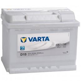 Автомобильный аккумулятор VARTA Silver D15 (63R) 610А обратная полярность 63 Ач (242x175x190) фото