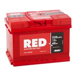 RED 60RS (низкий) 520А обратная полярность 60 Ач (242x175x175)