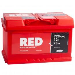 Автомобильный аккумулятор RED 75RS (низкий) 720А обратная полярность 75 Ач (278x175x175) фото