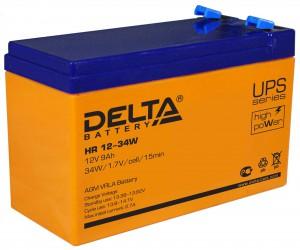 Аккумулятор для ИБП Delta HR 12-34W 135А универсальная полярность 9 Ач (151x65x100) фото