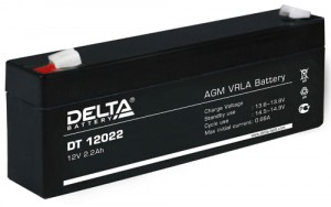 Аккумулятор для ИБП Delta DT 12022 универсальная полярность 2 Ач (178x35x66) фото