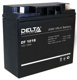 Аккумулятор для ИБП Delta DT 1218 универсальная полярность 18 Ач (181x77x167) фото