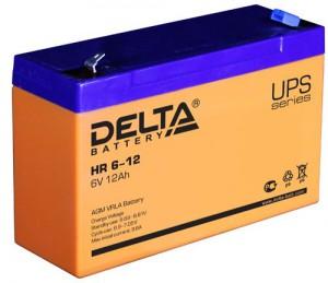Delta HR 6-12 универсальная полярность 12 Ач (151x50x100)