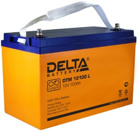Аккумулятор для ИБП Delta DTM 12100 L универсальная полярность 100 Ач (330x171x220) фото