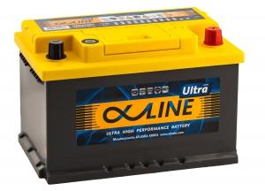 Автомобильный аккумулятор AlphaLINE Ultra 74RS 750А обратная полярность 74 Ач (278x175x175) фото