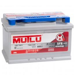 MUTLU Mega Calcium 75R (низкий) 720А обратная полярность 75 Ач (278x175x175)