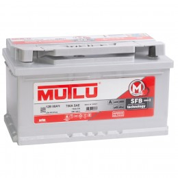 MUTLU Mega Calcium 80R (низкий) 780А обратная полярность 80 Ач (315x175x175)