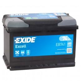 EXIDE Excell EB741 (74L) 680А прямая полярность 74 Ач (276x175x190)