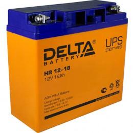 Аккумулятор для ИБП Delta HR 12-18 универсальная полярность 18 Ач (181x77x167) фото
