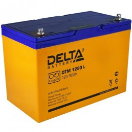 Delta DTM 1290 L универсальная полярность 90 Ач (306x169x210)