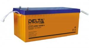 Delta DTM 12200 L универсальная полярность 200 Ач (522x238x227)