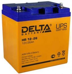 Delta HR 12-26 универсальная полярность 26 Ач (165x125x175)