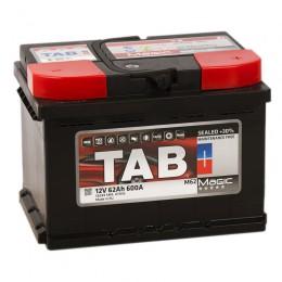 Автомобильный аккумулятор TAB MAGIC 62R (низкий) 600А обратная полярность 62 Ач (242x175x175) фото
