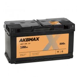AKBMAX 100L 800А прямая полярность 100 Ач (352x175x192)