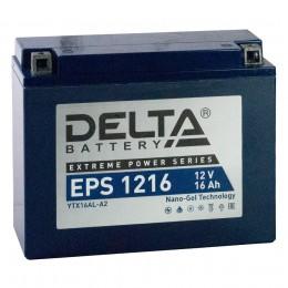 Аккумулятор для мототехники DELTA EPS 1216 230А обратная полярность 16 Ач (207x72x164) фото