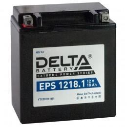 Аккумулятор для мототехники DELTA EPS 1218.1 270А прямая полярность 20 Ач (151x87x161) фото