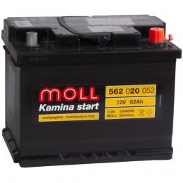 Автомобильный аккумулятор MOLL Kamina Start 62R 520А обратная полярность 62 Ач (242x175x190) фото