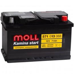 Автомобильный аккумулятор MOLL Kamina Start 71RS (низкий) 680А обратная полярность 71 Ач (278x175x175) фото
