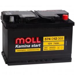 MOLL Kamina Start 74R 680А обратная полярность 74 Ач (276x175x190)