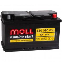 MOLL Kamina Start 80R 680А обратная полярность 80 Ач (315x175x190)