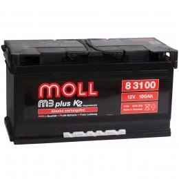 Автомобильный аккумулятор MOLL M3plus 100R 850А обратная полярность 100 Ач (353x175x190) фото