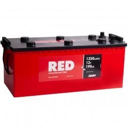 Автомобильный аккумулятор RED 190 euro 1350А обратная полярность 190 Ач (513x222x217) фото