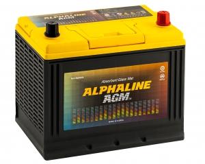 Автомобильный аккумулятор AlphaLINE AGM D26L 75R с бортом 720А обратная полярность 75 Ач (260x173x225) фото